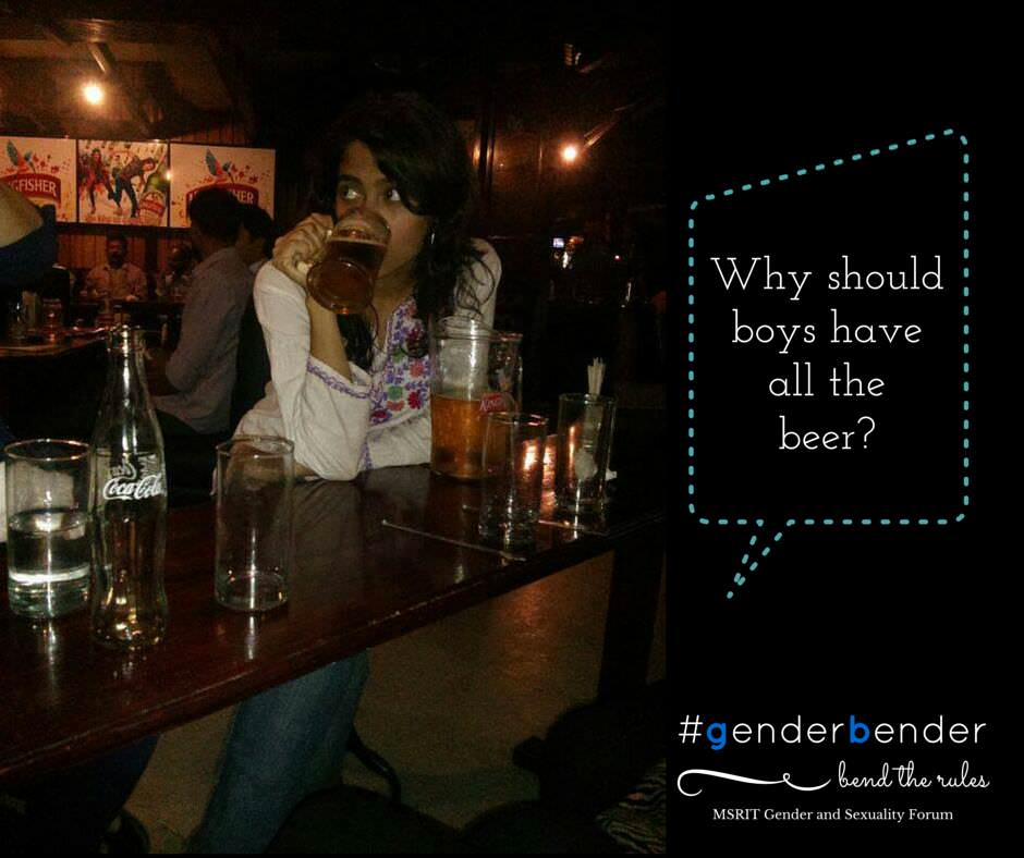 """I am a woman, and I love my beer! Why should men have all the beer?"" - Samyuktha Iyer"