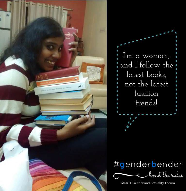 """I'm a woman, and I follow the latest books, not the latest fashion trends."" - Sharada Srinivasan, National Law School"
