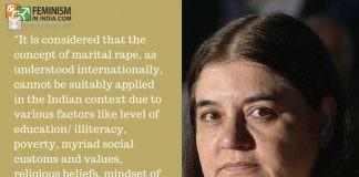 Dear Mrs. Maneka Gandhi, Marital Rape Is Rape. Period