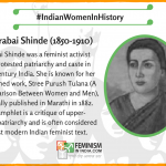 Today, we begin our #IndianWomenInHistory campaign where we will profile legendary #IndianWomen for the whole of March , which is also globally celebrated as #WomensHistoryMonth Our first post is about #TarabaiShinde. Tarabai Shinde (1850–1910) was a feminist activist who protested patriarchy and caste in 19th century India. She is known for her published work, Stree Purush Tulana (A Comparison Between Women and Men), originally published in Marathi in 1882. The pamphlet is a critique of upper-caste patriarchy and is often considered the first modern Indian feminist text. It was very controversial for its time in challenging the Hindu religious scriptures themselves as a source of women's oppression, a view that continues to be controversial and debated today.