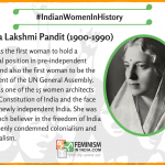 "Today's #IndianWomenInHistory is Vijaya Lakshmi Pandit. #WomensHistoryMonth #VijayaLakshmiPandit was the first woman to hold a political position in pre-independent India and also the first woman to be the President of the UN General Assembly. She was one of the 15 women architects of the Constitution of India and the face of the newly independent India. She was a staunch believer in the freedom of India and openly condemned colonialism and imperialism. ""Lots of women now have done much more than I did in my time. The reason why I got publicity was because at that time women had no rights"" Read more about our campaign here: https://feminisminindia.com/2017/02/21/indian-women-history-campaign/"