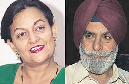 rupan deol bajaj and KPS GIll