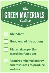 The Green Materials Checklist