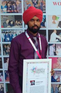 Sukhdeep Singh, founder and editor-in-chief of Gaylaxy Magazine