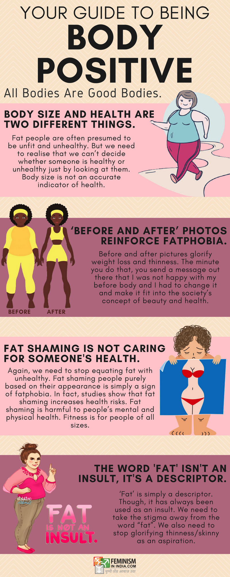 Your Guide To Being Body Positive (Infographic)