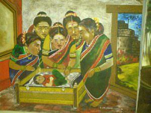 Kittur Chennamma as an infant