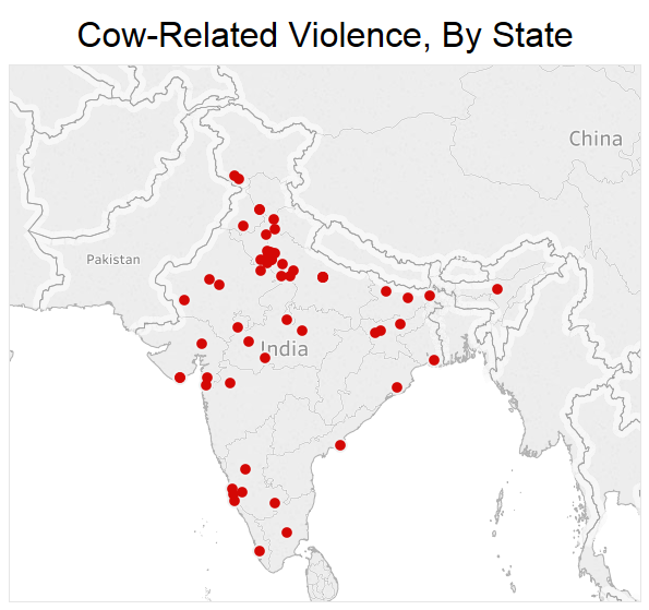 Cocow related violence, by state
