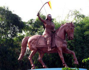 Statue of Kittur Rani Chennamma at Parliament