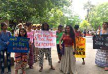 DU Women Protest Discriminatory Rules At Ambedkar Ganguly Hostel
