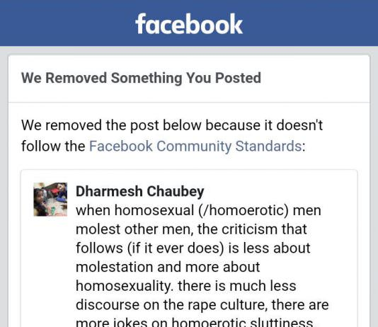 Facebook's Community Standards Suppress A Marginalized Voice Again