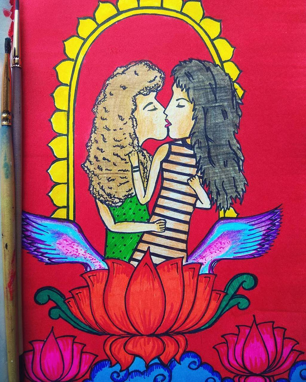 Meet Shristi Verma, The Instagram Artist Who Draws Queer Women In Love