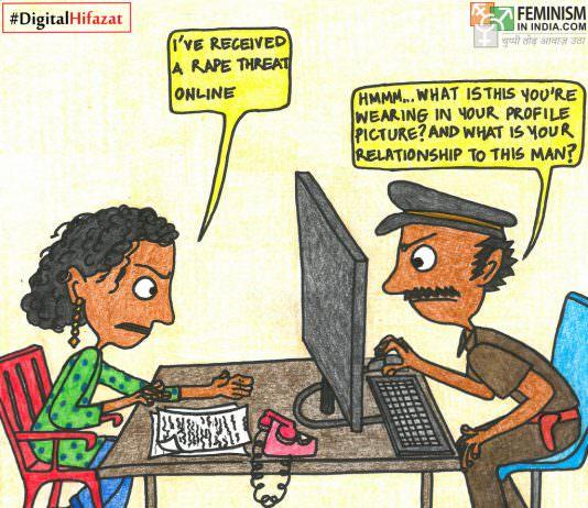 Comic: When Women Report Online Violence   #DigitalHifazat
