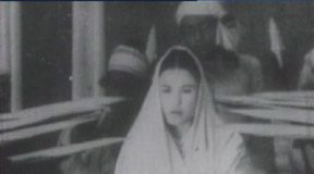Aideu Handique in the film, Joymoti, as Soti Joymoti