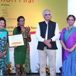 P. Sainath handed over the award and certificate to Swati Singh