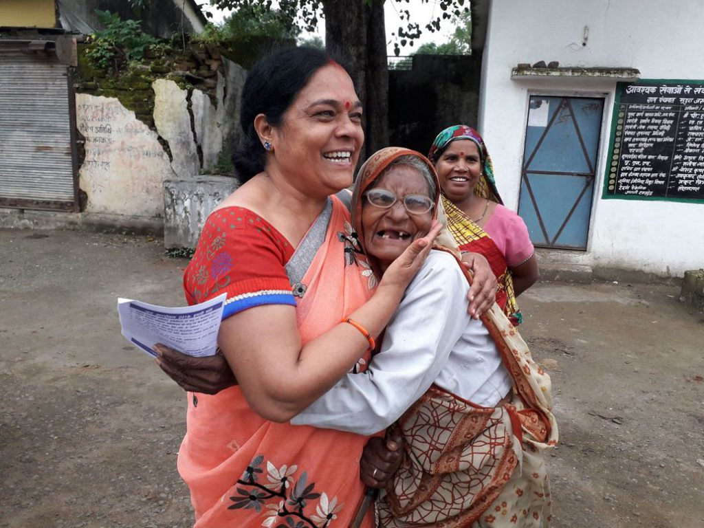 The women, moved by the speeches of the grassroots women leaders, often came up to them to hug them and express solidarity.