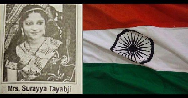 surayya tyabji woman who designed indian flag