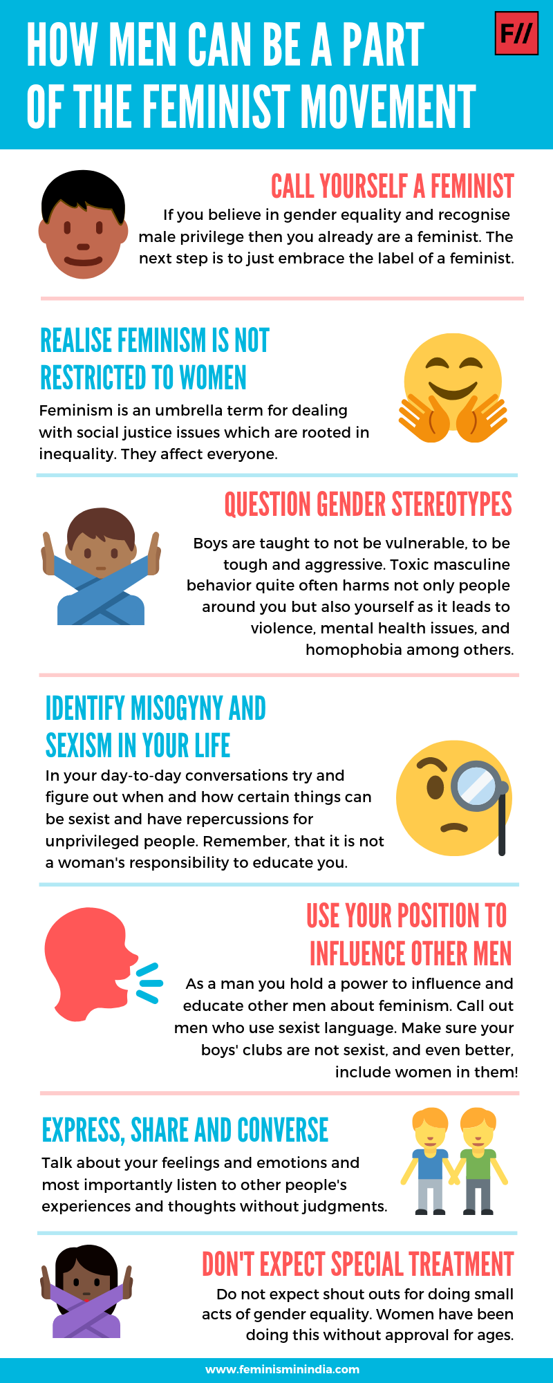 How Men Can Be Part Of Feminist Movement Infographic