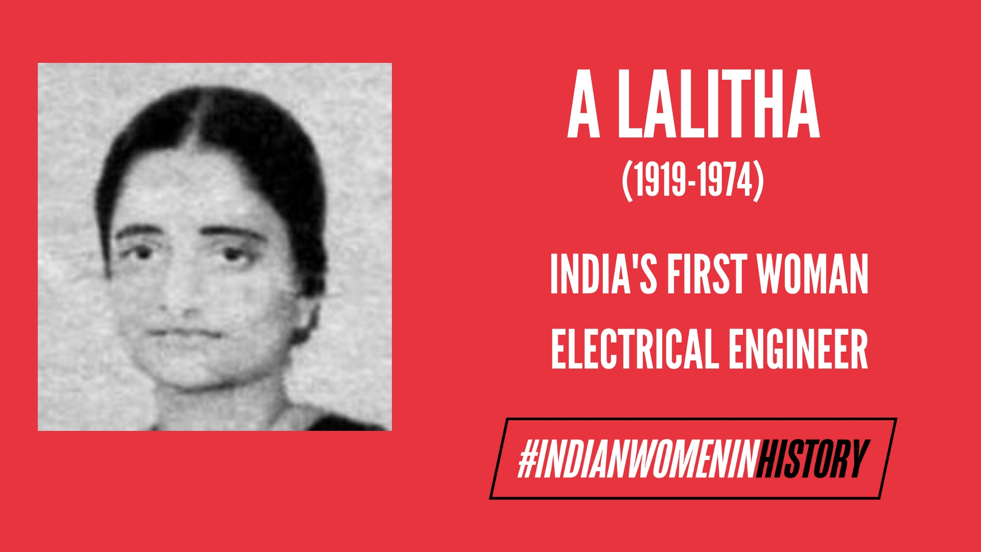 A Lalitha: India's First Woman Electrical Engineer | #IndianWomenInHistory