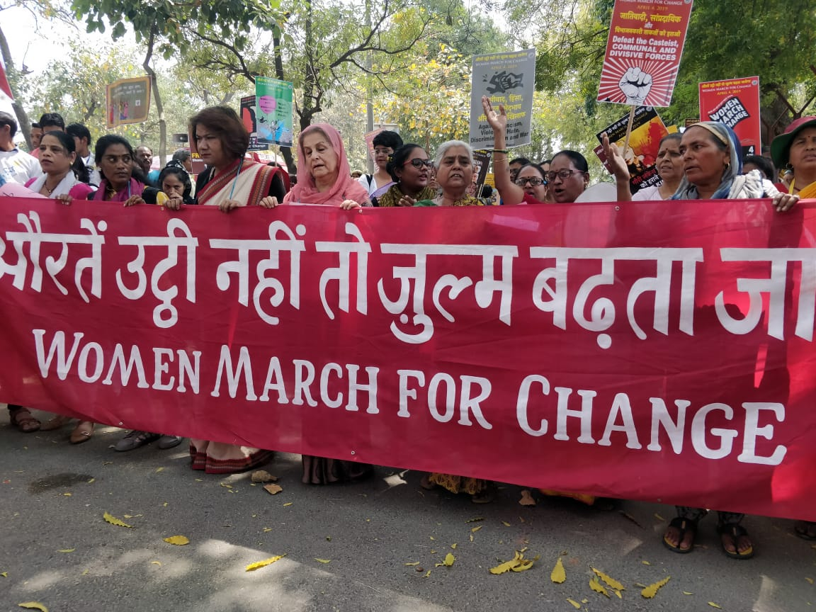 In Photos: #WomenMarch4Change In 131 Cities Across The Country