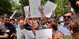 Journalists In Delhi Protest Against Illegal Arrest of Prashant Kanojia