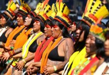 Save The Amazon: Indigenous Women In Brazil Protest Against Bolsonaro