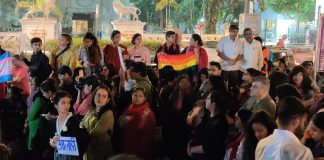 A crowd of 250-300 people constituting womxn and the members of the LGBTQIA+ community gathered at the Chhatrapati Shivaji statue in Mumbai's Dadar on Friday to protest against the nationwide implementation of the CAA, NRC and NPR.