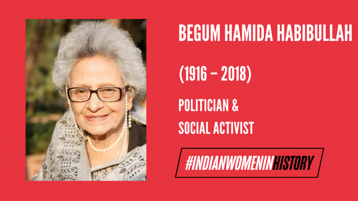 Begum Hamida Habibullah: Politician And Social Activist #IndianWomenInHistory