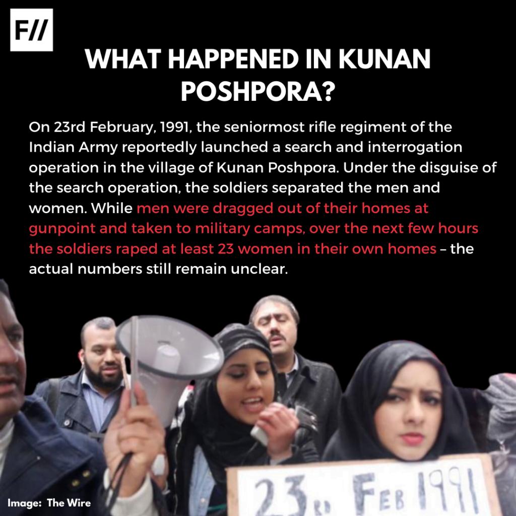Poster Series: Remembering Kunan Poshpora On Kashmiri Women's Resistance Day